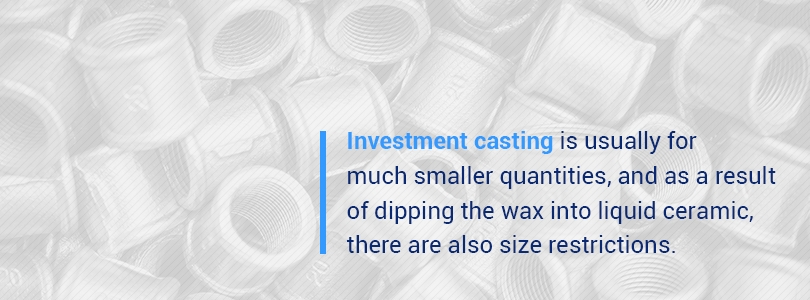 Die casting vs. investment casting